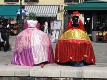 Animateurs de Venise Images stock