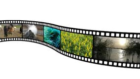 Animatie in analoge filmfilm stock footage