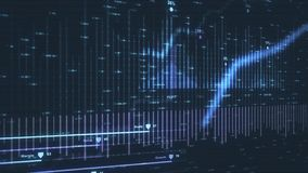 Animatie die moderne financiële gegevens afschilderen vector illustratie