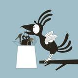 Animatie een vogel Stock Afbeelding