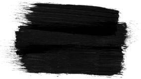 Animatie grunge - borstelslag op een witte achtergrond Abstract met de hand geschilderd element De slagenanimatie van de Grungebo royalty-vrije stock afbeelding