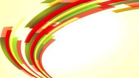 Animatie met kleurrijke rode en groene lijnen die, lijn uitgaan stock videobeelden