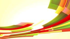 Animatie met kleurrijke rode en groene lijnen die, lijn van links naar rechts uitgaan stock videobeelden