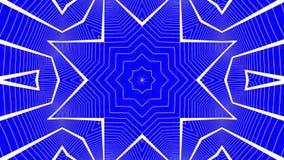 Animatie van de abstractie de blauwe witte caleidoscoop 3d geef terug vector illustratie