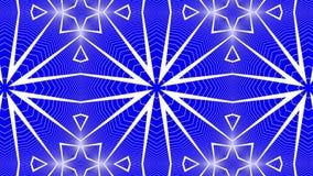 Animatie van de abstractie de blauwe witte caleidoscoop 3d geef terug stock illustratie