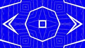 Animatie van de abstractie de blauwe witte caleidoscoop 3d geef terug royalty-vrije illustratie