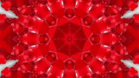 Animatie van de abstractie de rood-oranje caleidoscoop 3d geef terug royalty-vrije illustratie