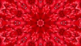 Animatie van de abstractie de rood-oranje caleidoscoop 3d geef terug stock illustratie
