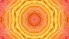 Animatie van de abstractie de rood-oranje caleidoscoop 3d geef terug vector illustratie