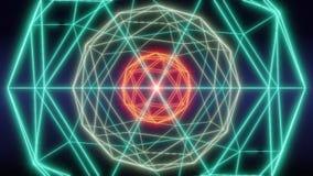 Animatie van de het netwerk de abstracte lijn van de Blockchaintechnologie royalty-vrije illustratie