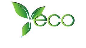 Animatie van ecologisch pictogram Het embleem van Eco stock illustratie