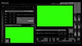 Animatie van een technologie-interface stock illustratie