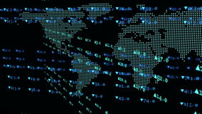 Animatie van effectenbeursgegevens met het kweken van grafiek vector illustratie