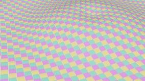 Animatie van golvende oppervlakte Naadloze lijnanimatie vector illustratie