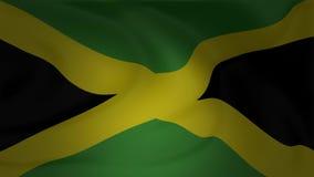 Animatie van Jamaïca-vlag die in de wind golven stock footage