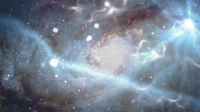 Animatie van melkweg en sterren stock footage