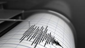 Animatie van Seismograaf stock videobeelden