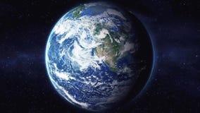 Animatie van start van aarde aan ruimte en rug 1920 vector illustratie