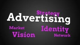 Animatie van verschillende marketing woorden vector illustratie