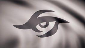 Animatie van vlag met symbool van Cybergaming Team Secret Redactieanimatie vector illustratie