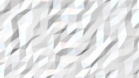 Animatio poligonale astratto bianco del fondo royalty illustrazione gratis