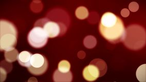 Animation of abstract dust bokeh background in red stock video