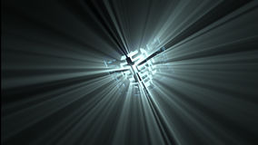 Animation of an abstract spotlight in motion giving light stock video