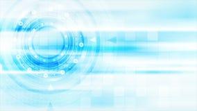 Animation abstraite bleu-clair de vidéo de technologie illustration de vecteur