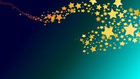 Animation abstraite d'instantané de comète d'étoile filante banque de vidéos