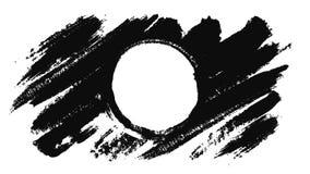Animation abstraite de tracer un cercle avec une brosse animation Cercle tracé en à l'encre noire sur un fond blanc illustration libre de droits