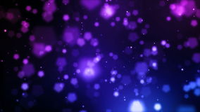 Animation abstraite des particules éclatantes et des lumières brouillées illustration libre de droits
