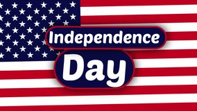Animation for American Independence Day, flat colors royalty free stock photos
