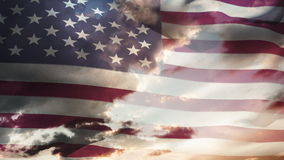 Animation of american waving flag stock video footage