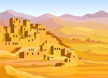 Animation Arab city illustration de vecteur