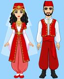 Animation Arab family. Stock Images