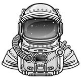 Animation Astronaut in a space suit. Vector illustration  on a white background. Print, poster, t-shirt, card Stock Photography