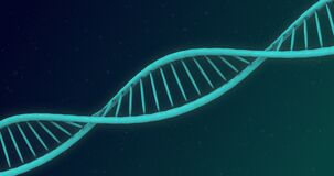 Animation of DNA structure against blue background