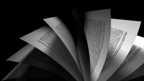 Animation of book's pages turning stock footage