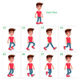 Animation of boy walking. stock photos