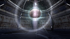 Animation of brains in a futuristic mechanical room stock footage