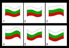 Animation Bulgarian flag Stock Photo