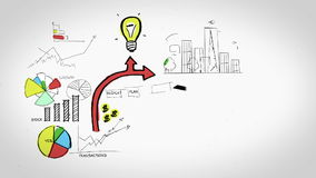 Animation on business growth and development stock footage