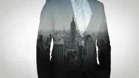 Animation of businessman stock video