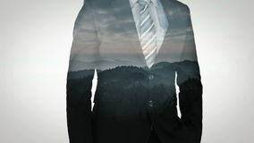 Animation of businessman stock video footage