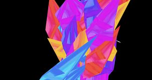 An animation of cartoonish colorful crystal moving and making patterns. stock video footage