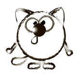 Animation cat.  illustration B Royalty Free Stock Image