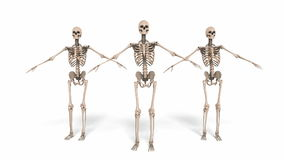Animation of cheerleading Skeletons stock video footage