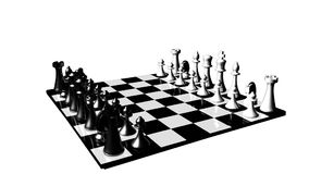Animation of a chess set turning. Concept of rivalry and competition in business stock video