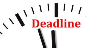 Animation of clock countdown to deadline. UltraHD video footage. Animation of clock countdown to deadline. UltraHD 4K video footage royalty free illustration