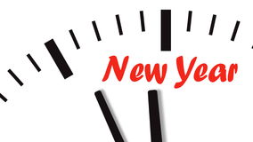 Animation of clock countdown to New Year stock video